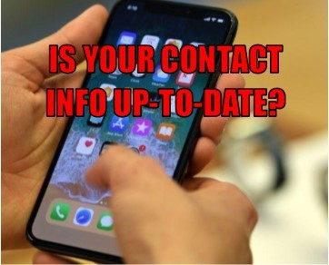 Keep Your Contact Information Updated