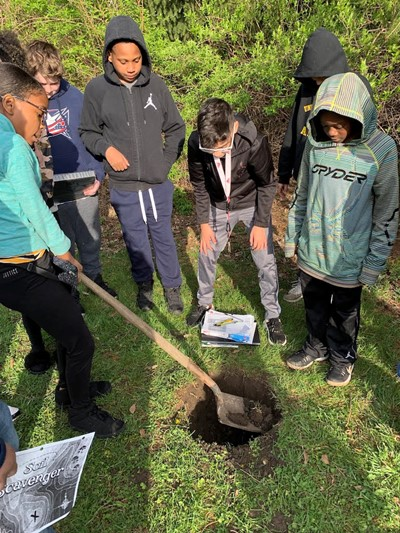 Science Students Taking the Classroom Outdoors