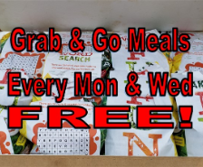 Free Grab & Go Meals Available on Mondays and Wednesdays