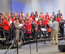 Middle School Choirs Perform Together for the First Time!