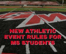New Athletic Event Rules for Middle School Students