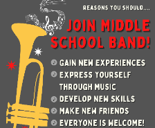 Join Middle School Band!