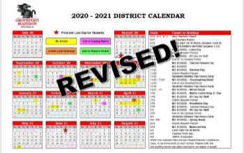 Groveport Madison School Calendar 2021