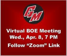 Virtual BOE Meeting, Wed., Apr. 8, 7 PM