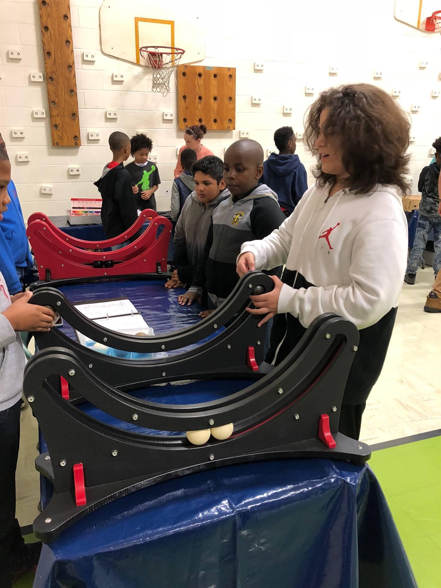 Students exploring different Science activities