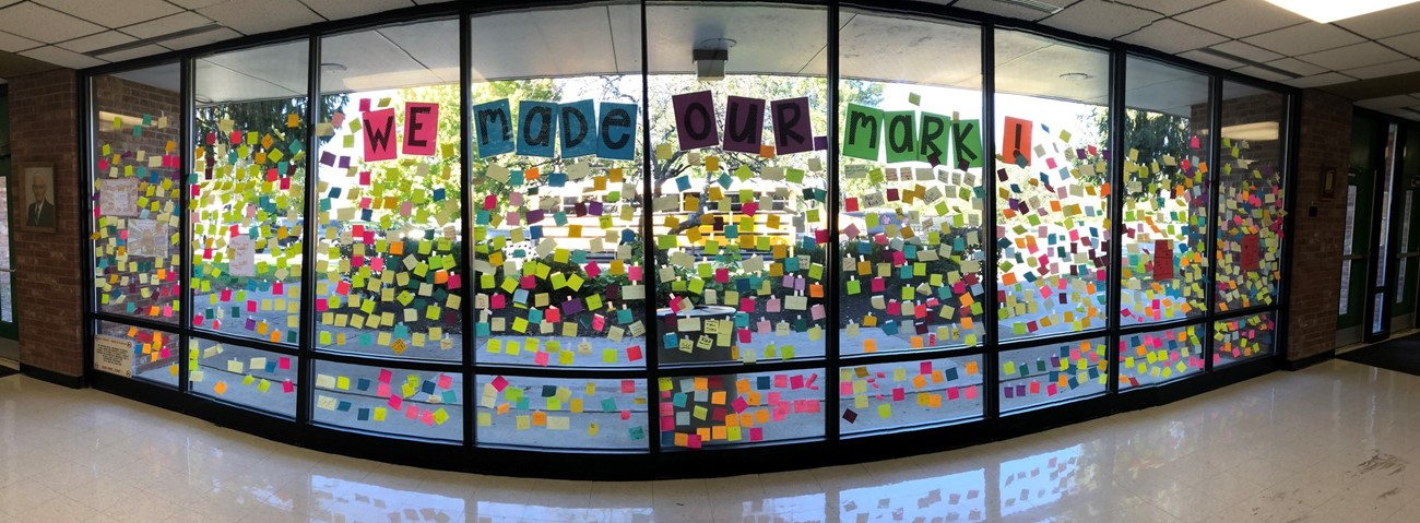 Post it Note Display