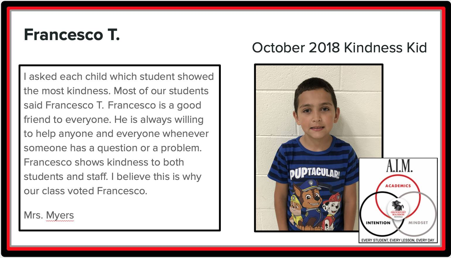 Kindness Kid Francesco