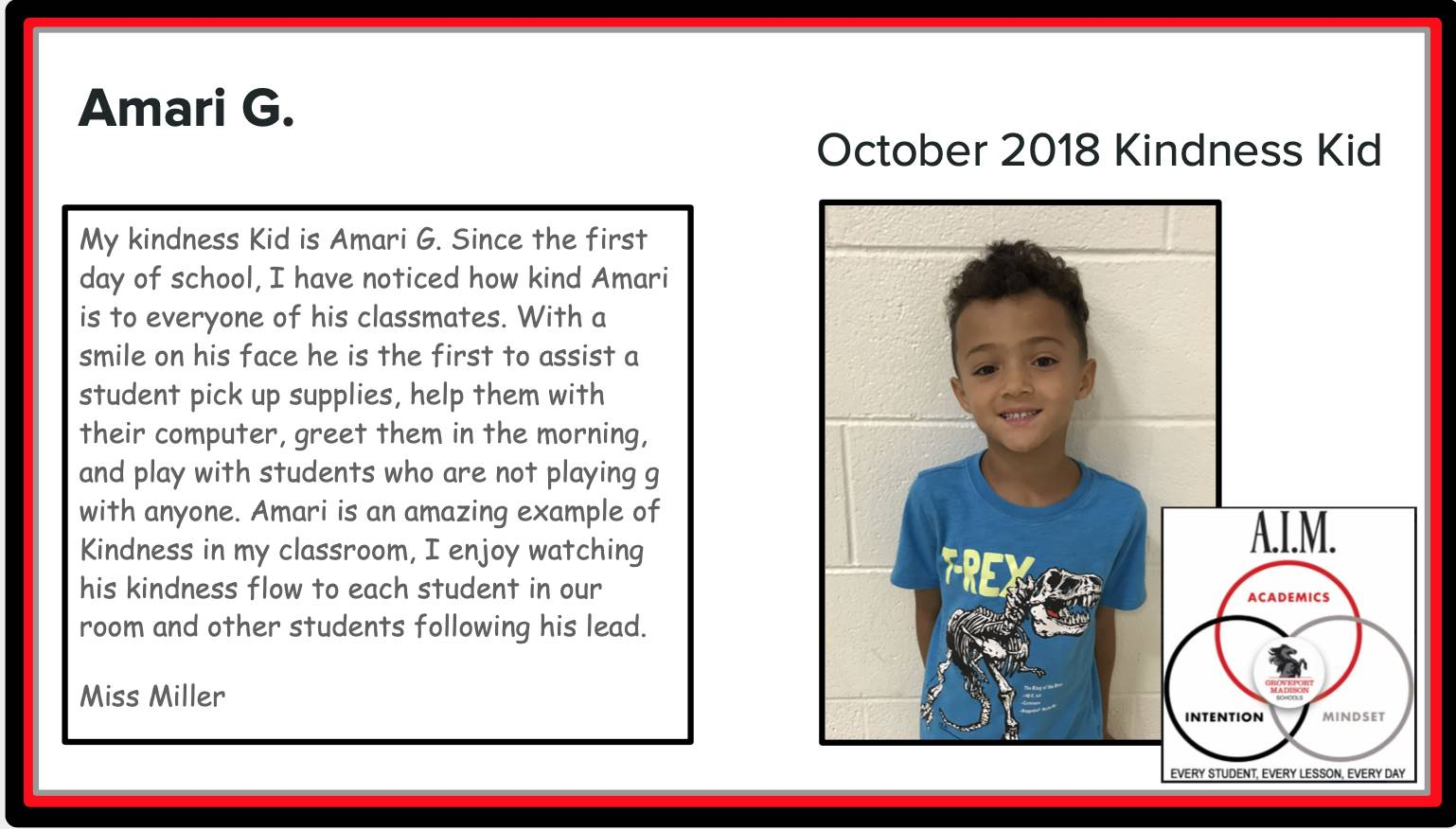 Kindness Kid Amari