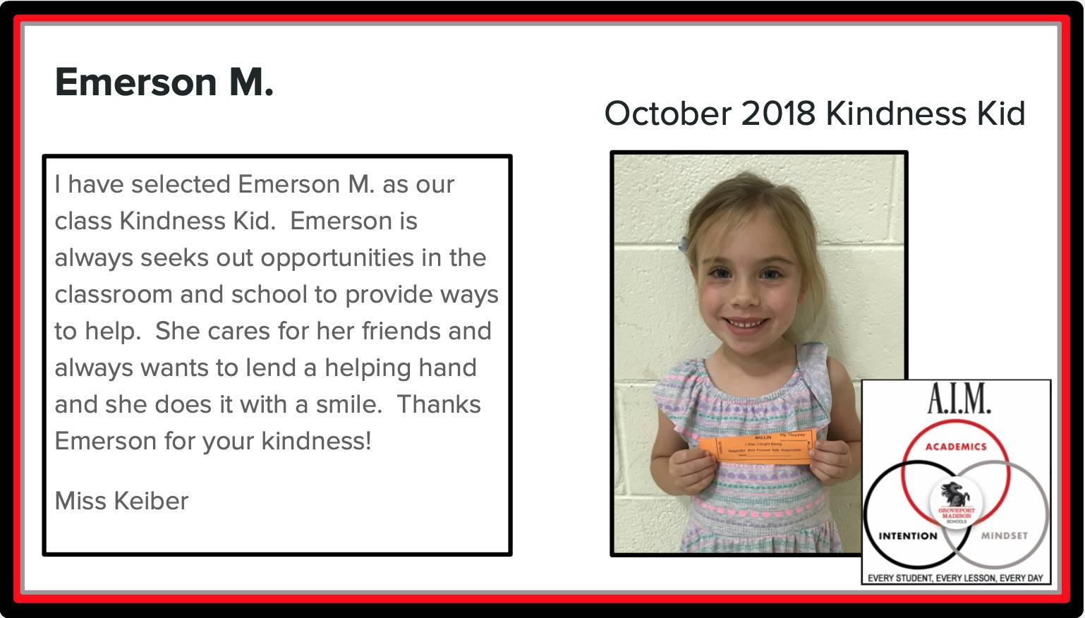 Kindness Kid Emerson