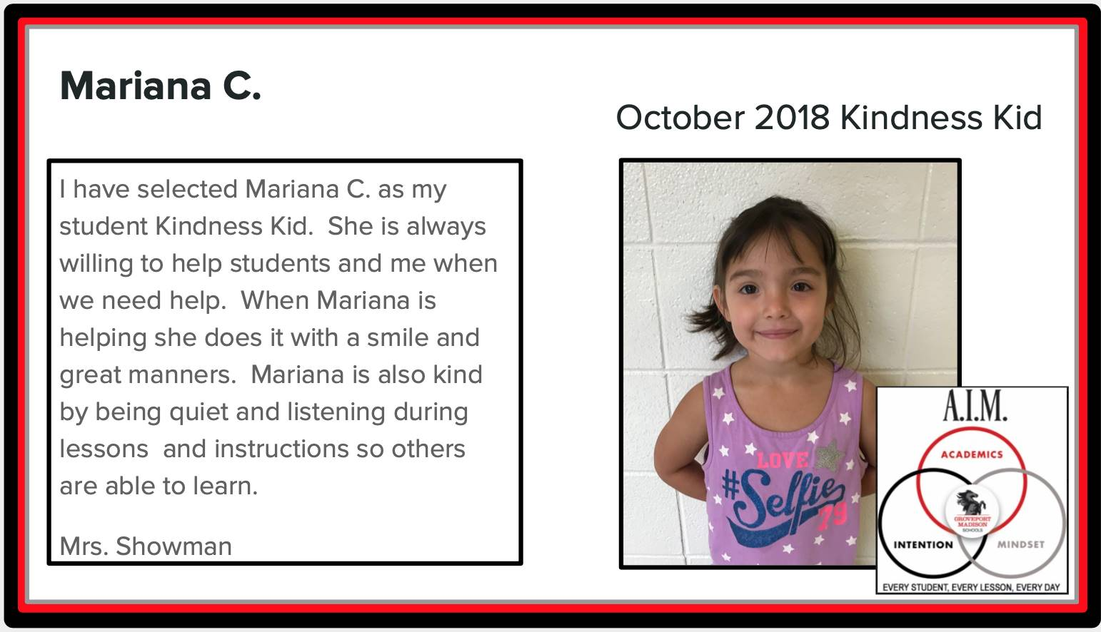Kindness Kid Mariana