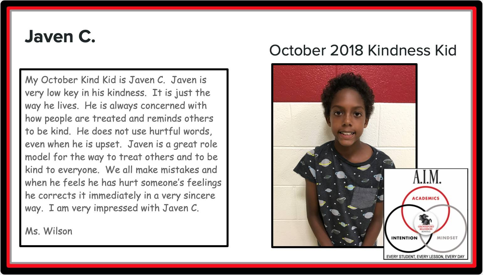 Kindness Kid Javen