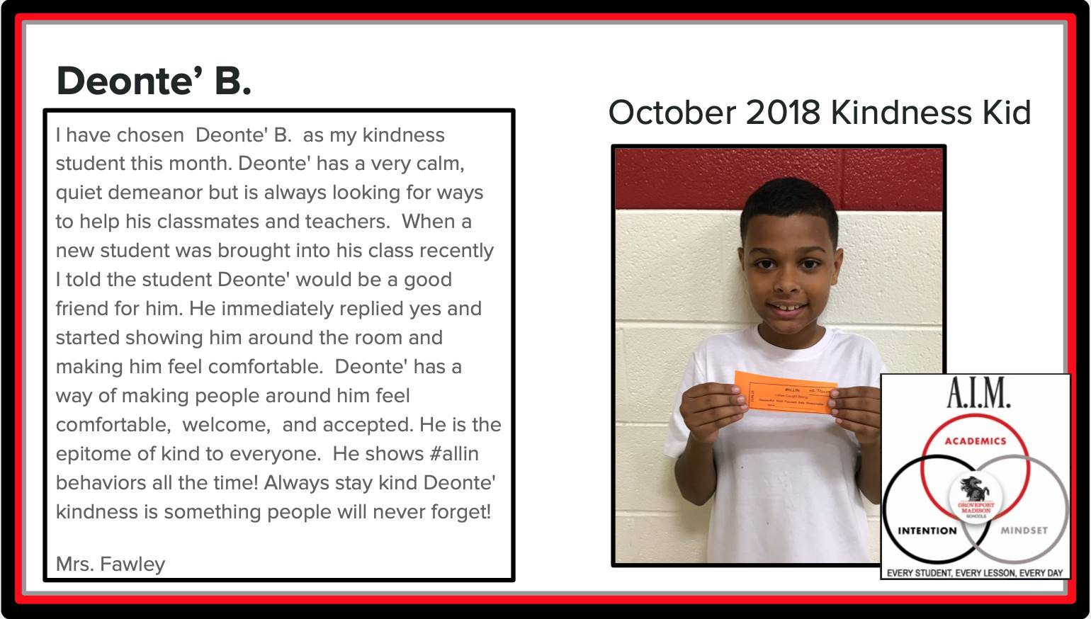 Kindness Kid Deonte'