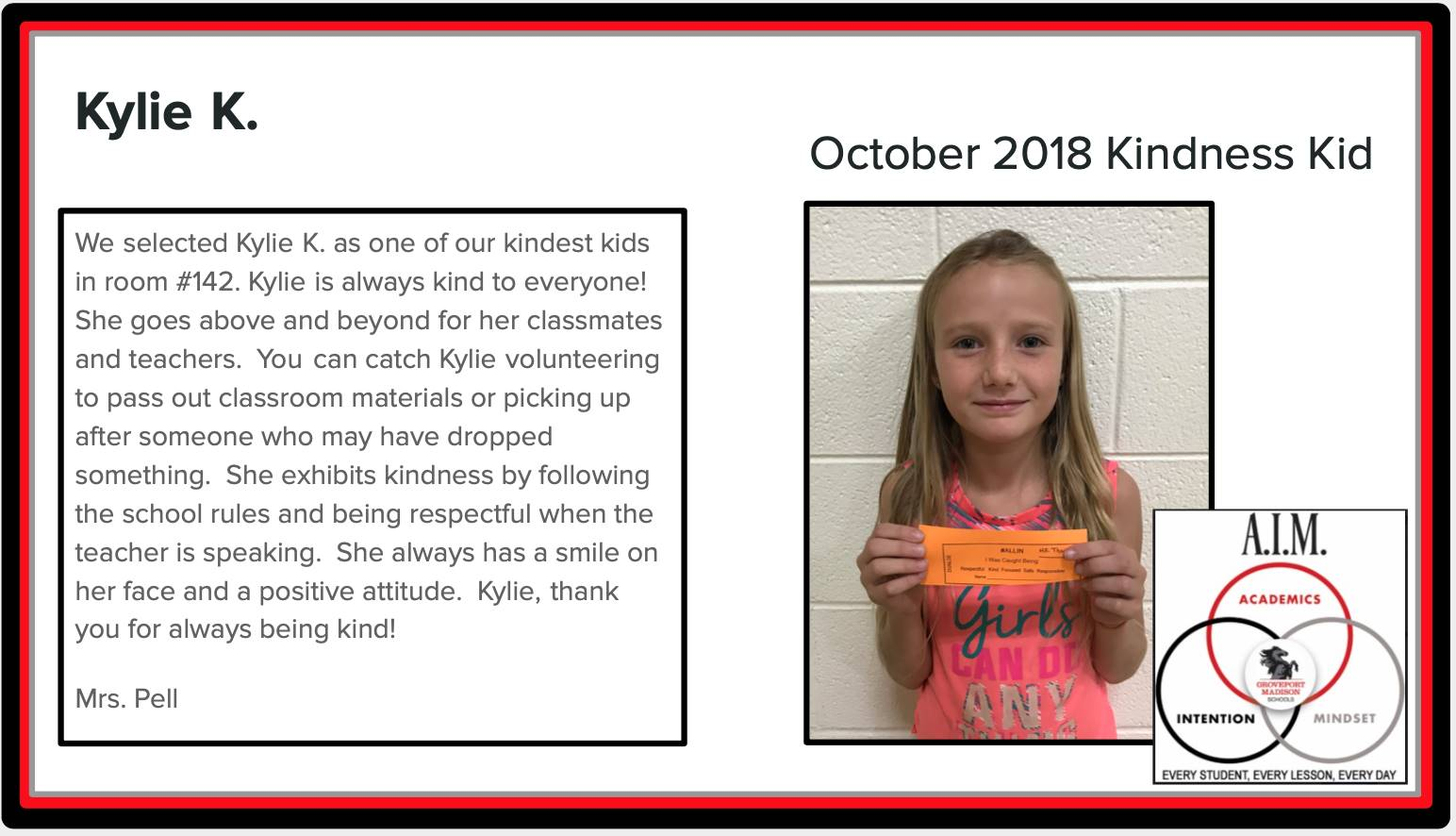 Kindness Kid Kylie