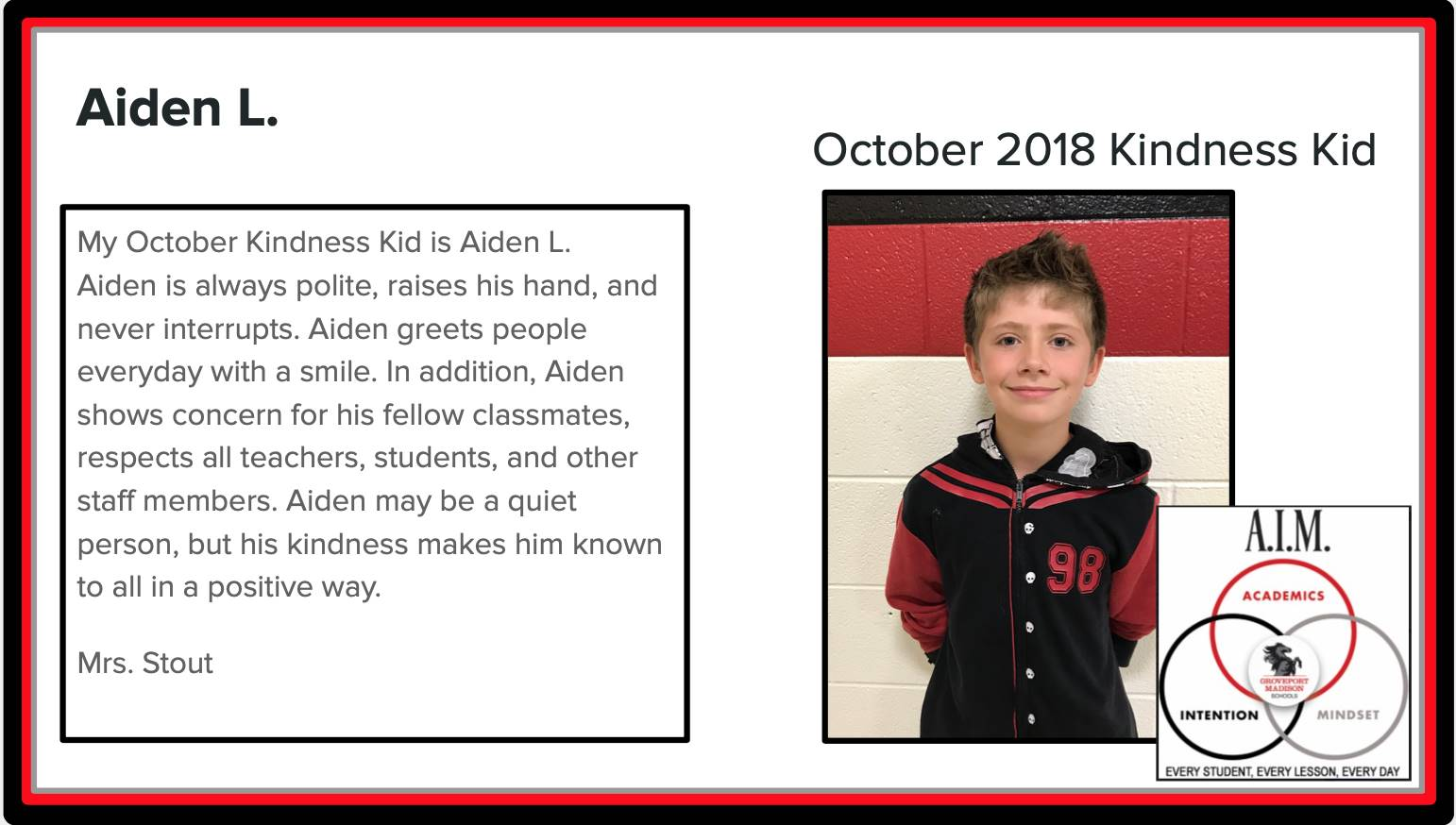 Kindness Kid Aiden