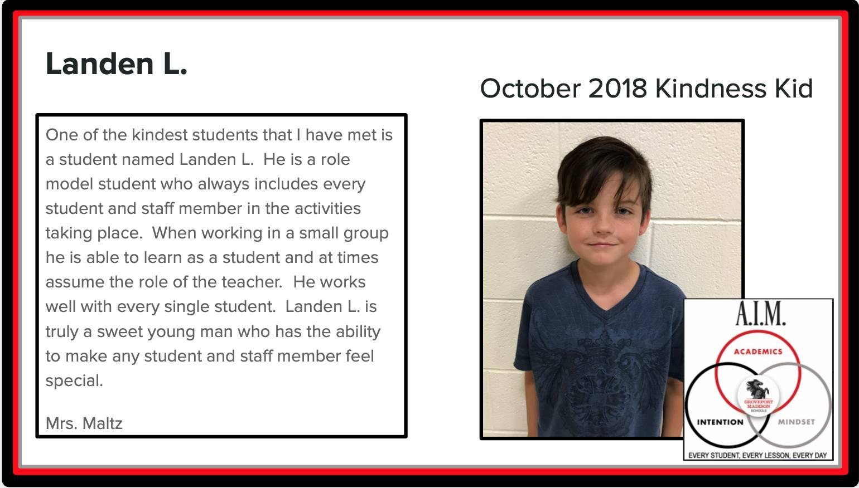 Kindness Kid Landen