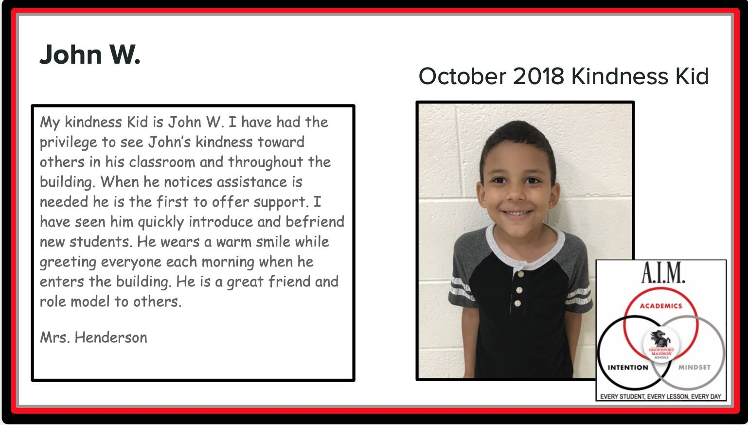 Kindness Kid John