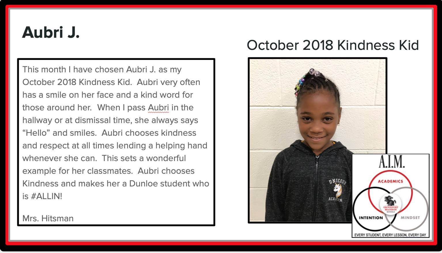 Kindness Kid Aubri
