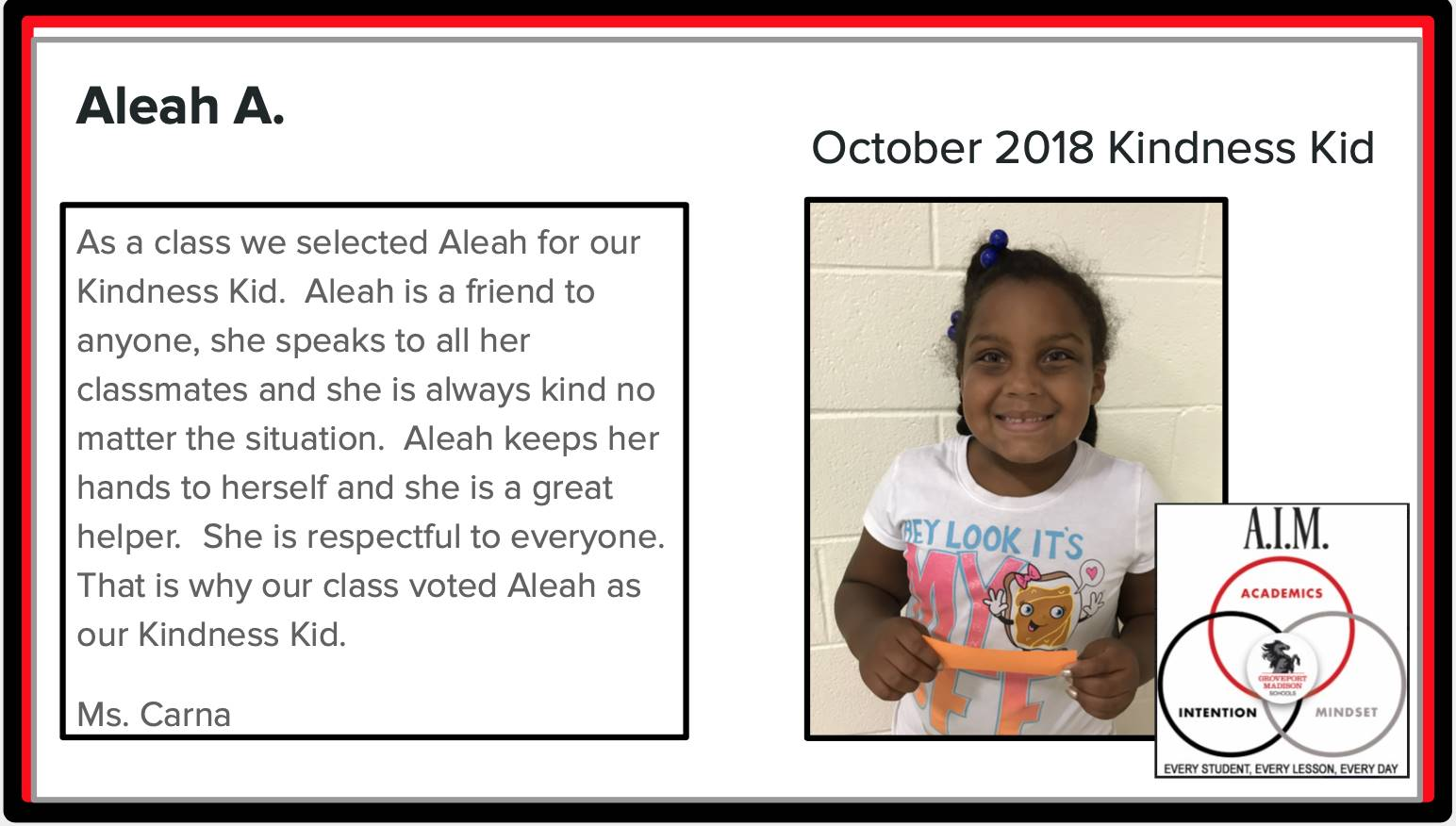 Kindness Kid Aleah