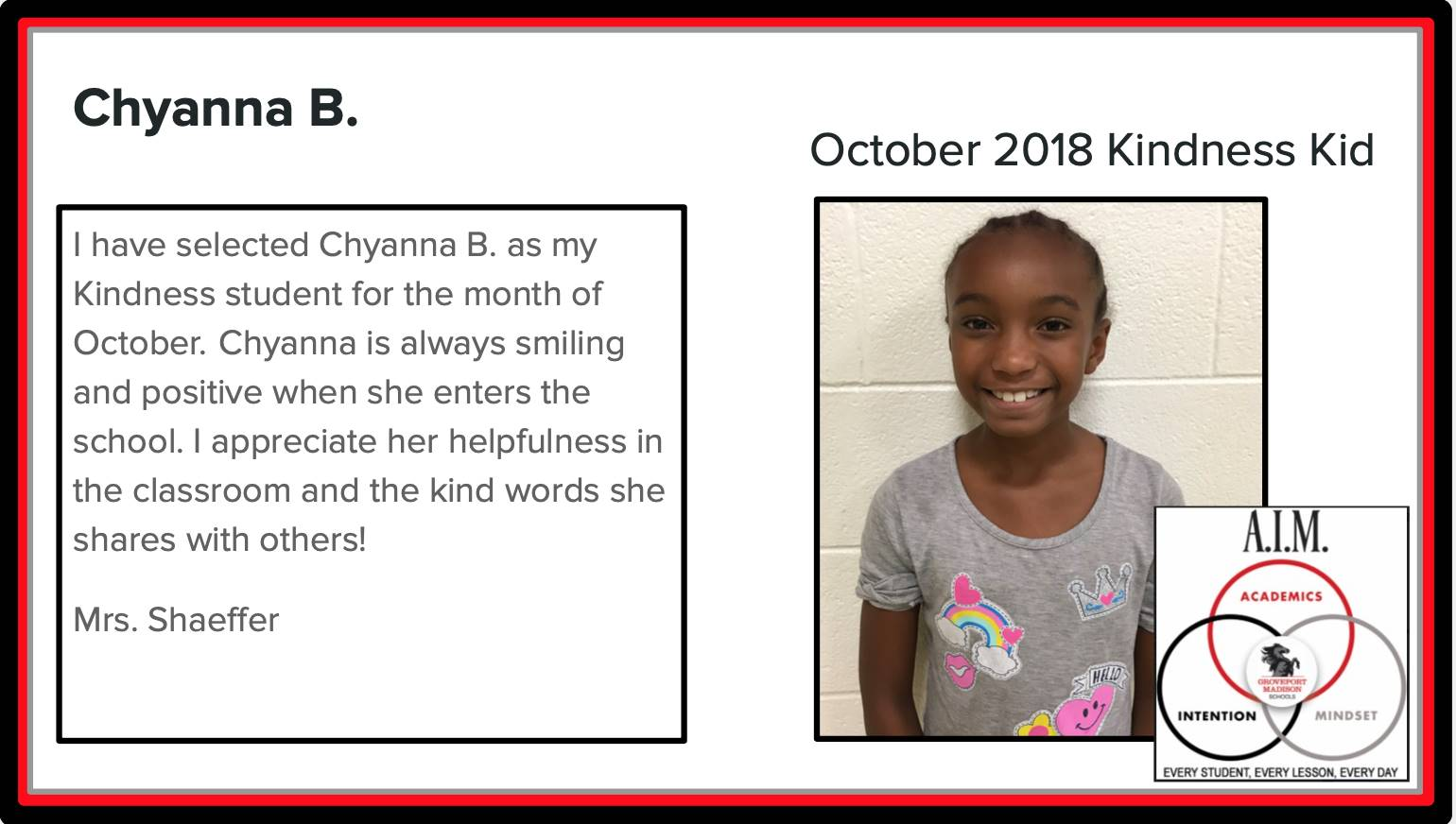 Kindness Kid Chyanna