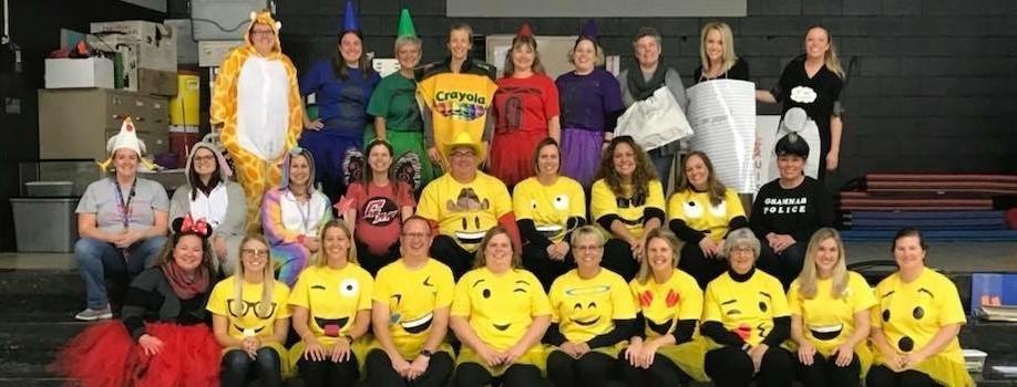 Dunloe Staff at Halloween