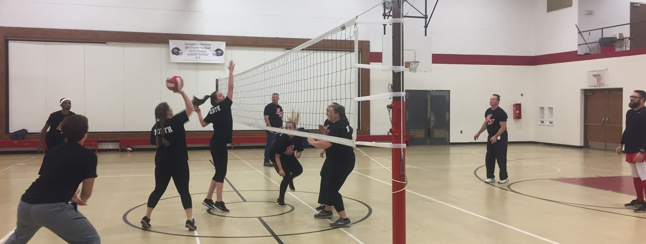 Students VS. Staff Vollyball