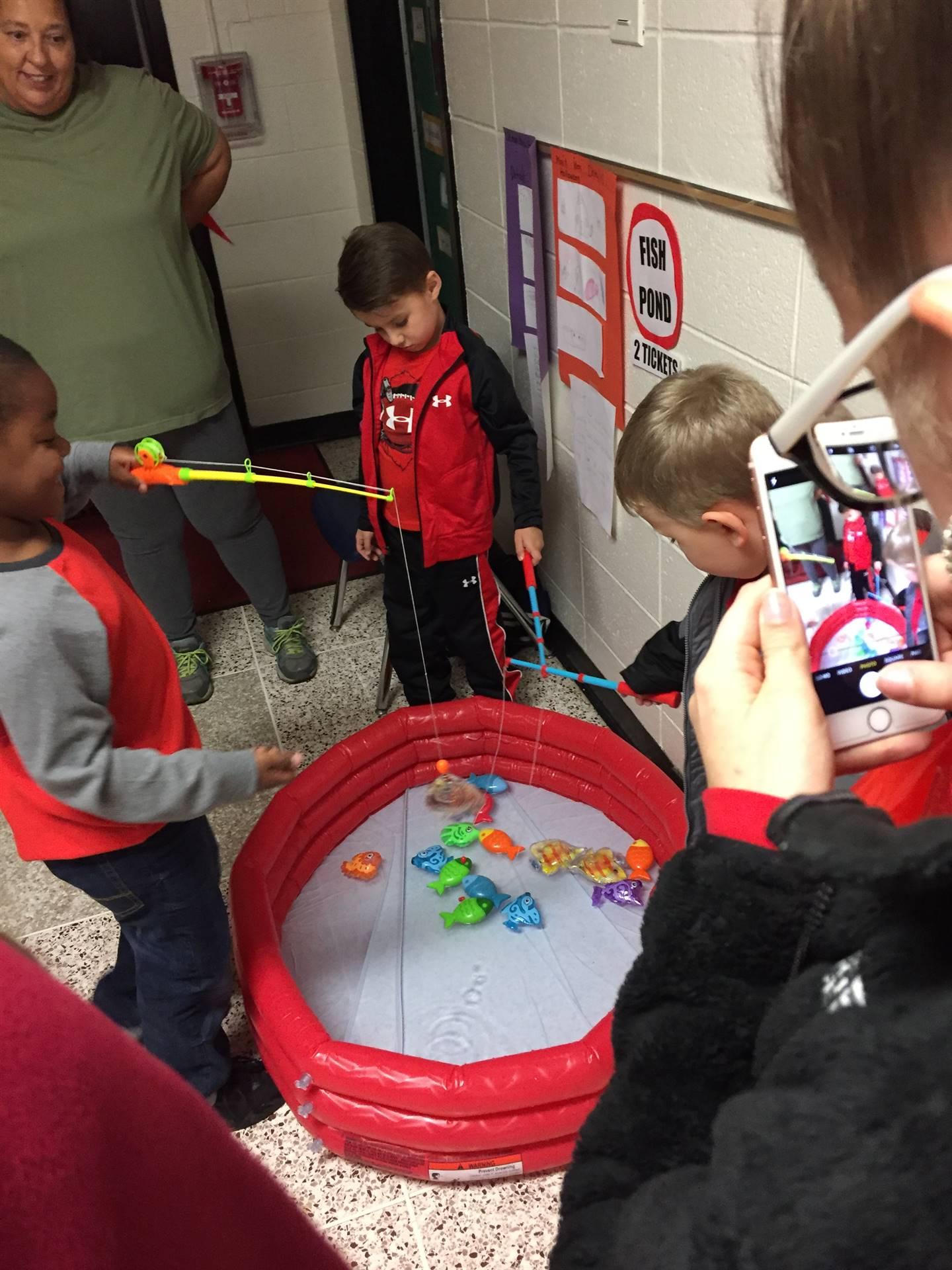 Students enjoying games