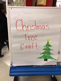 sign that says christmas tree craft
