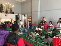 2nd grade field trip to Lego exhibit.