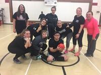 Students verse Staff Dodgeball