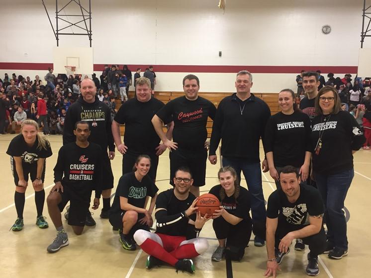 Staff VS Students Basketball Game