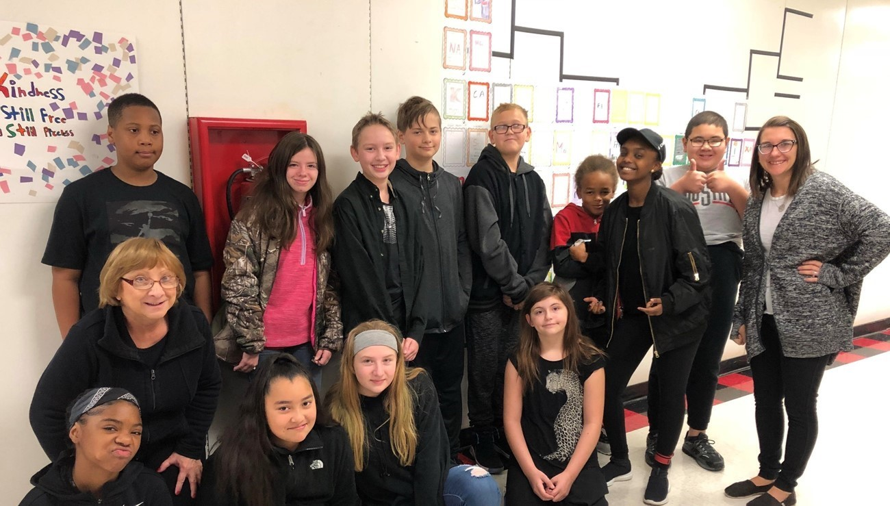 students showing pride wearing black