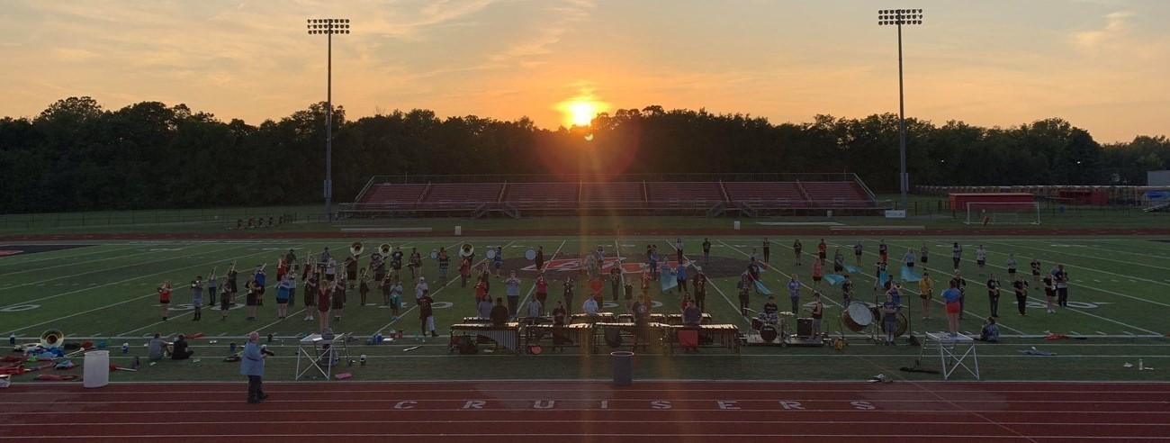 Band at sunset