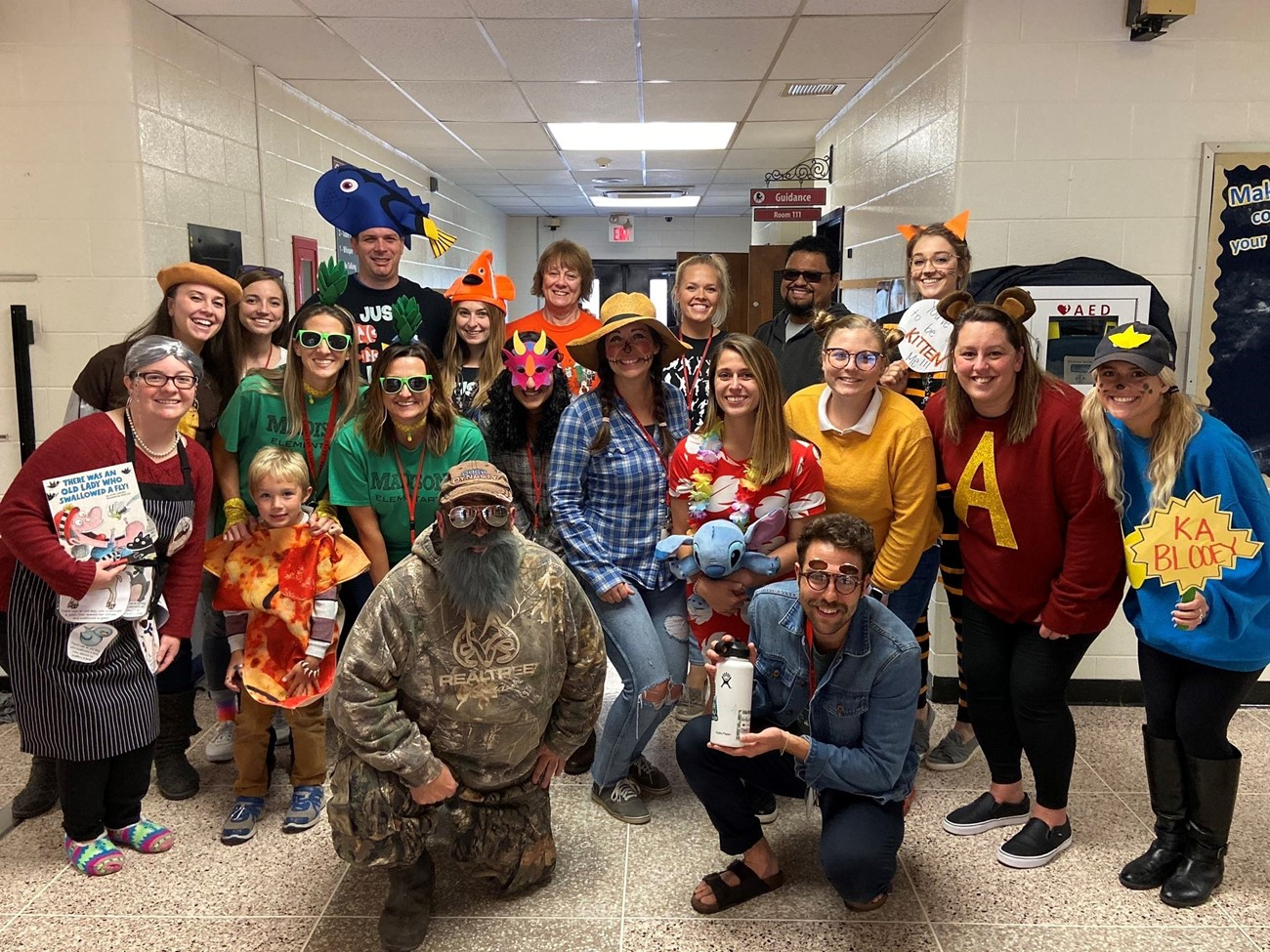 Madison Staff dressed up for the Harvest Parade