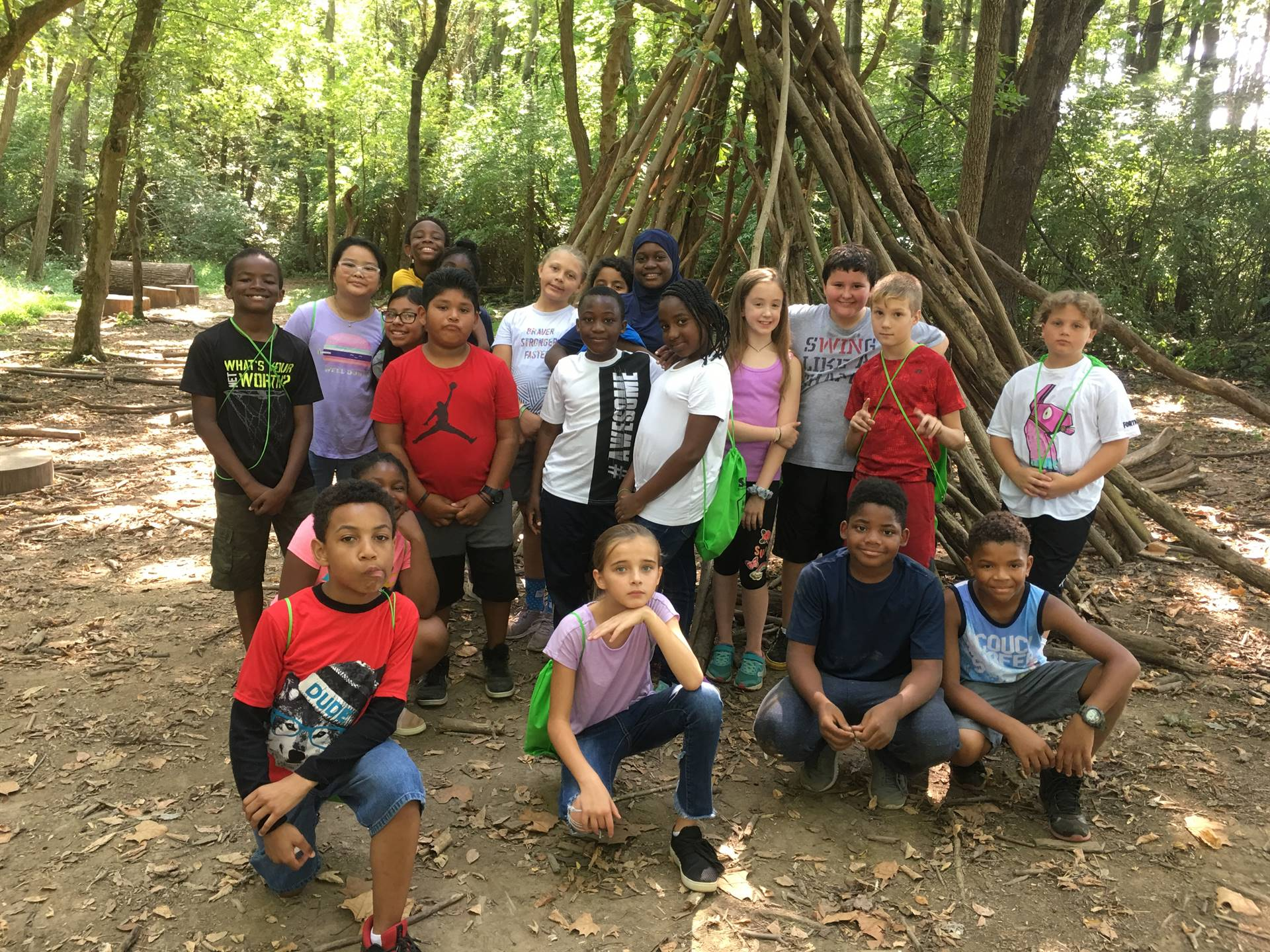 Fifth Graders on the Seed Field trip