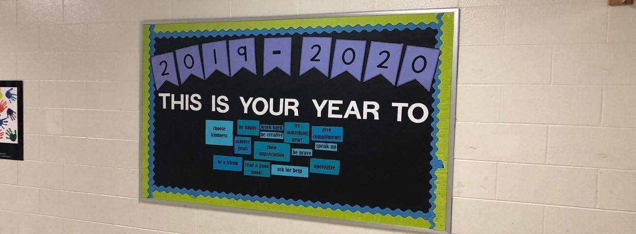 positive mindset bulletin board