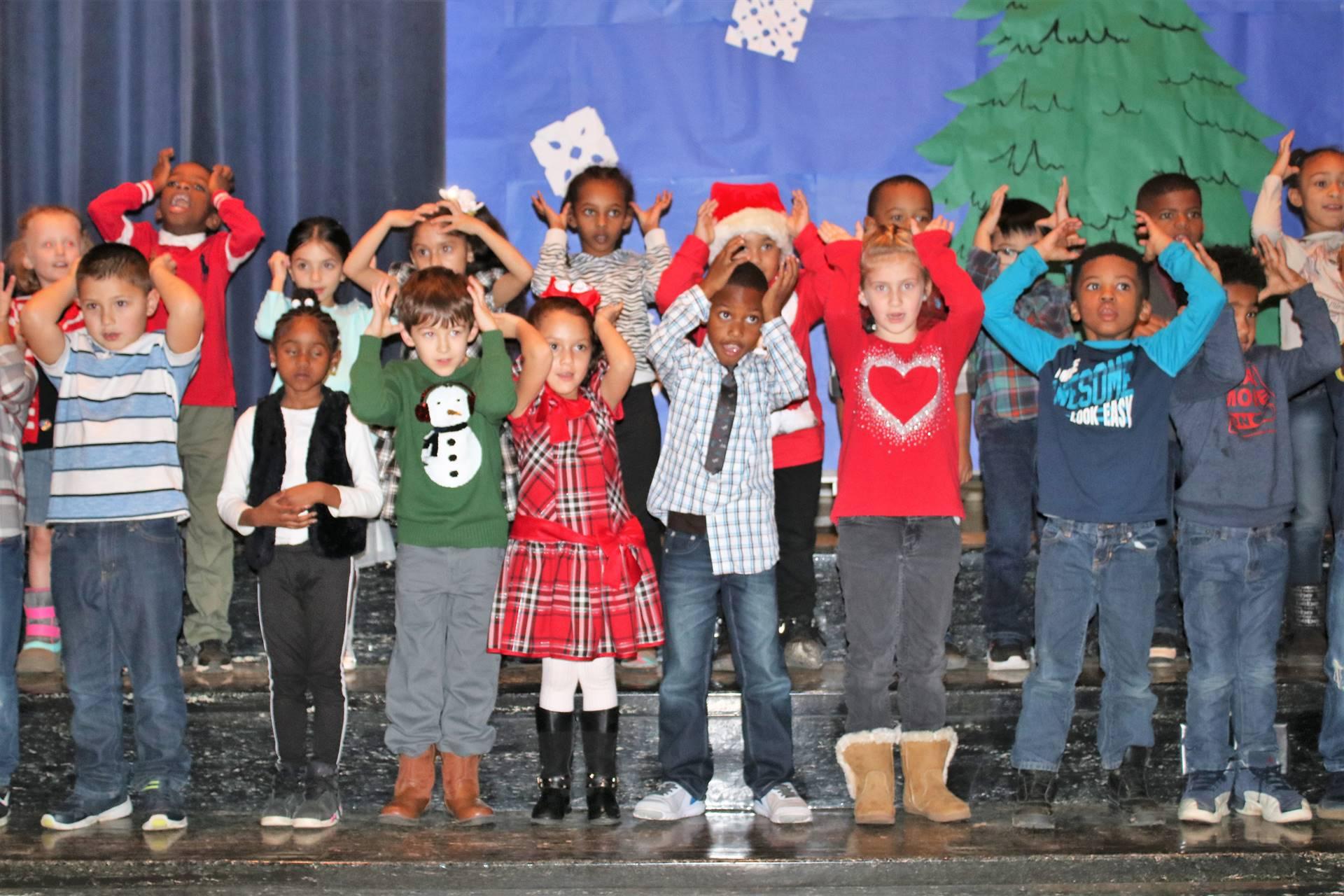 Students performing music program