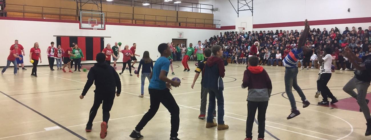 Students VS. Staff Dodgeball