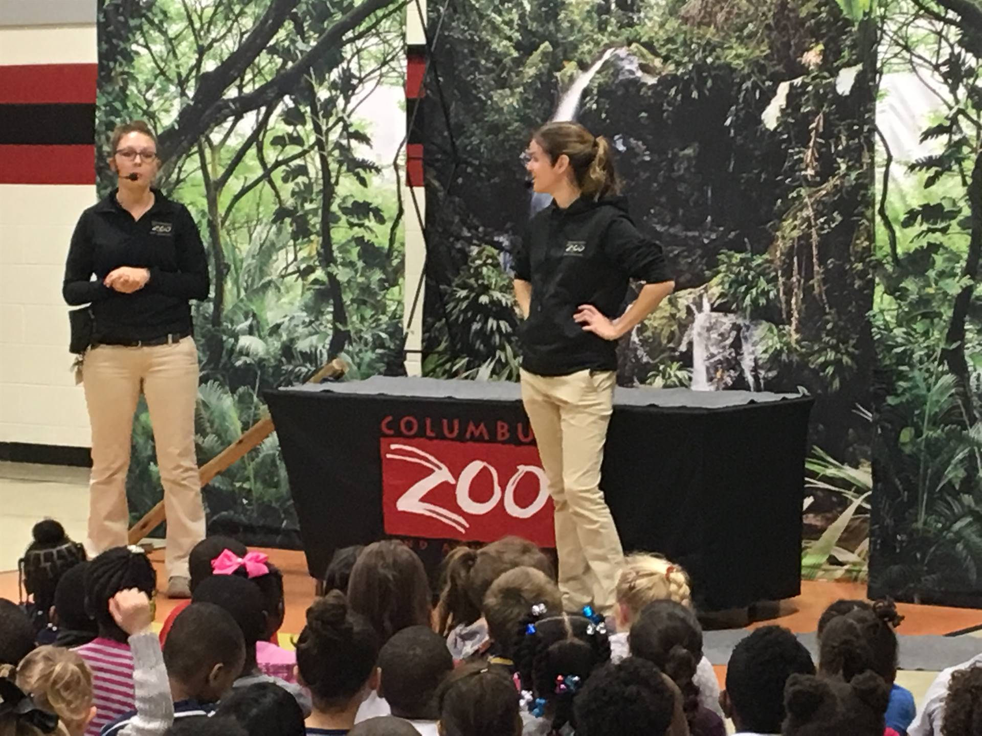 The Columbus Zoo came to visit!