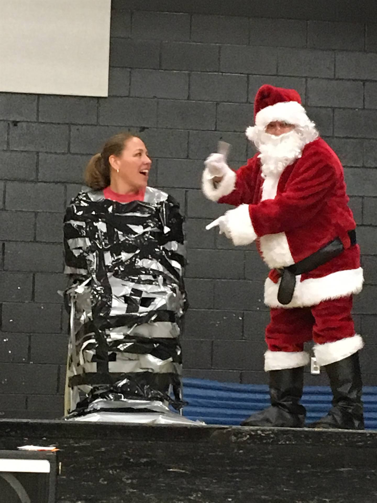 Santa came to Dunloe and Mrs. Lewellen was duct taped to a chair!