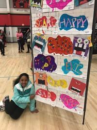 displays of student art work