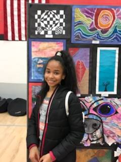 Dunloe students and their artwork showcased at the State of the Schools event on March 5.