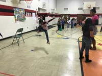 Students enjoyed jumping with Mrs. Moore and the other special area teachers!