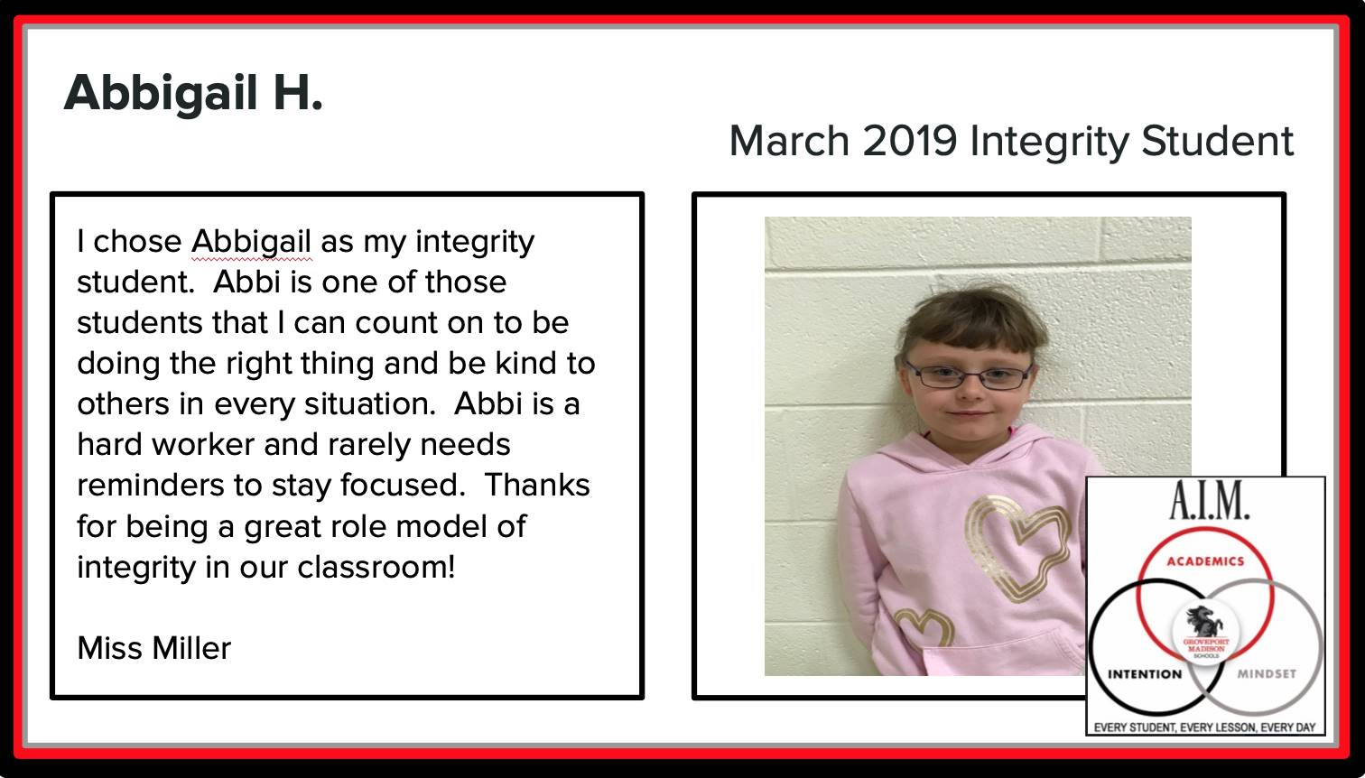 March Integrity Students