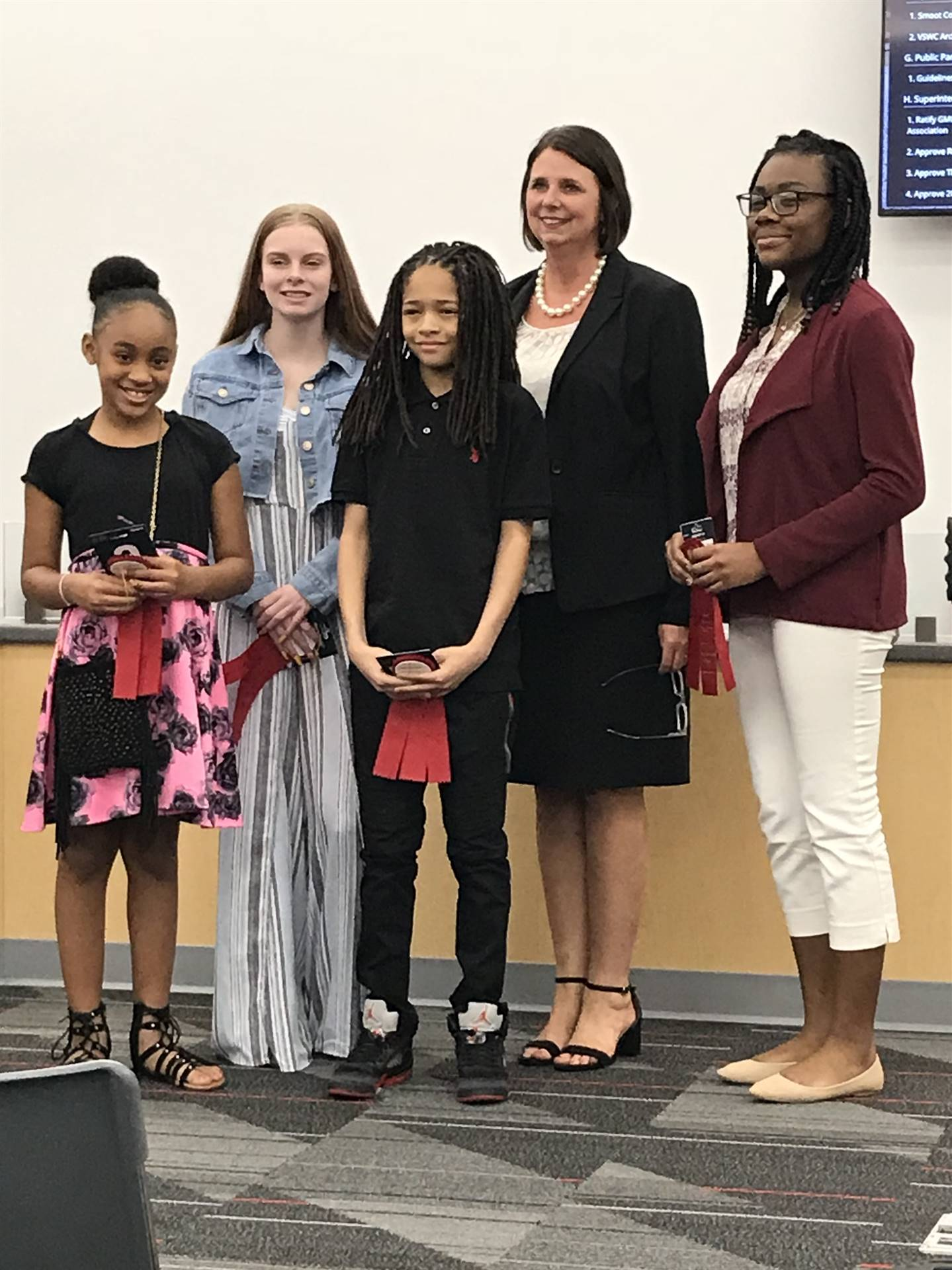 Aliyah was recognized at the April Board Meeting.