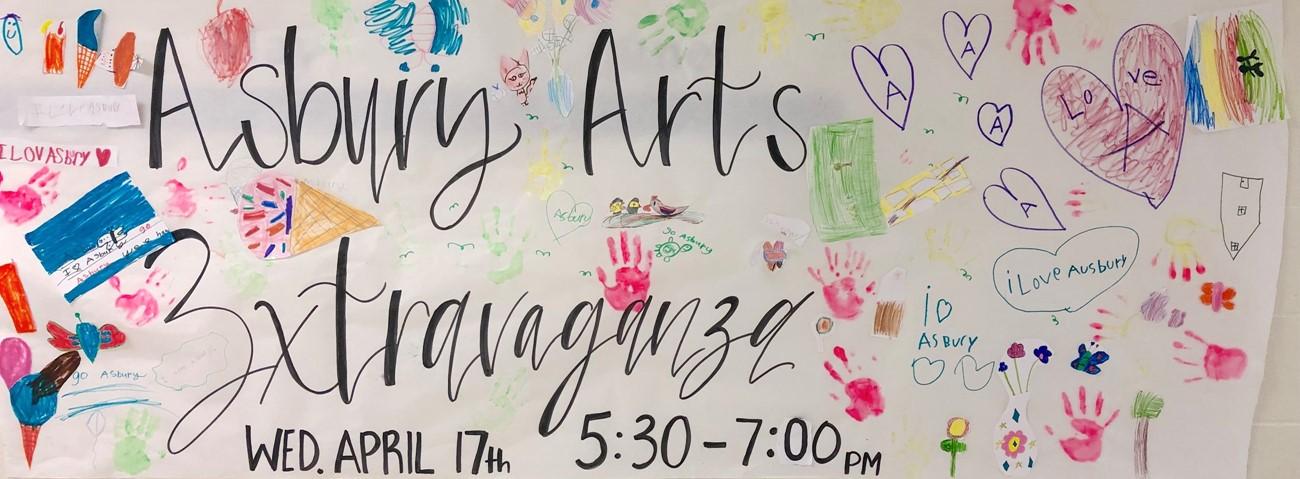 spring art show banner