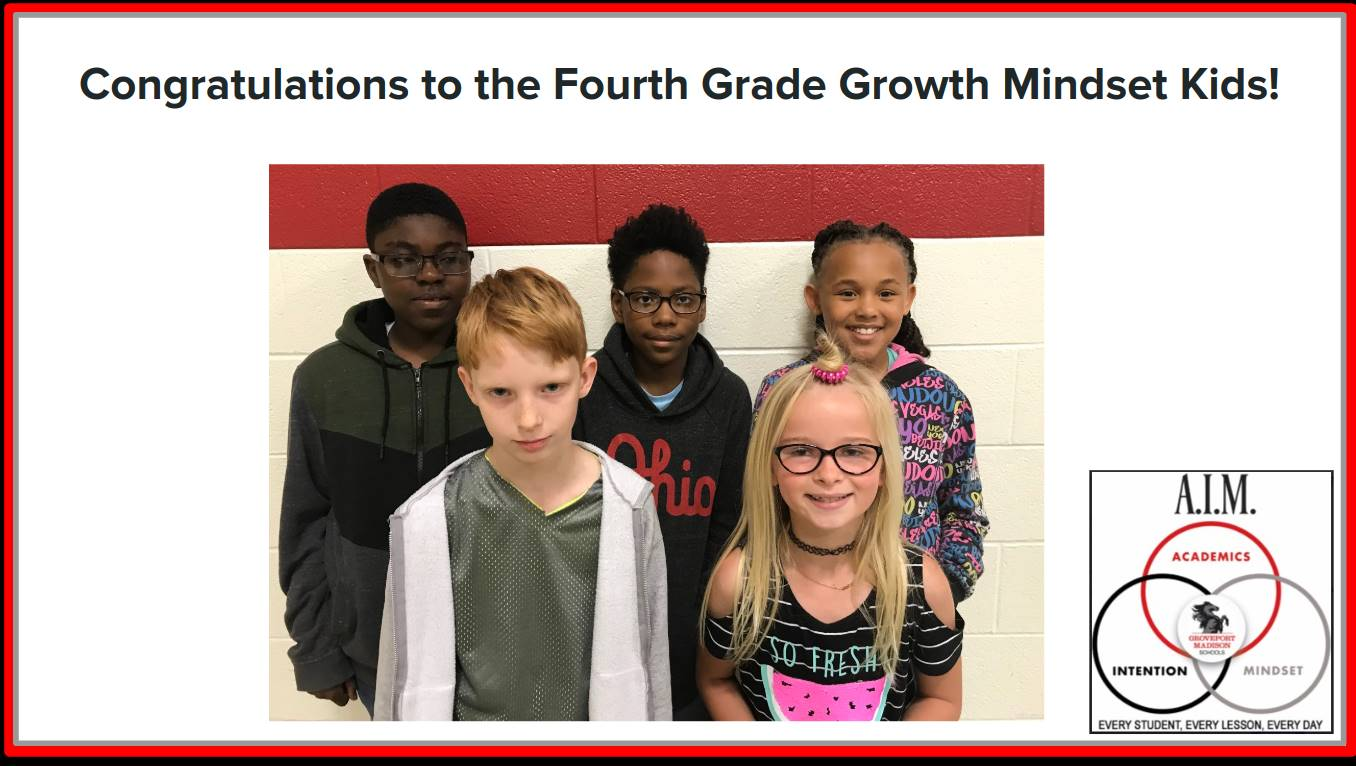 Fourth Grade Growth Mindset Kids