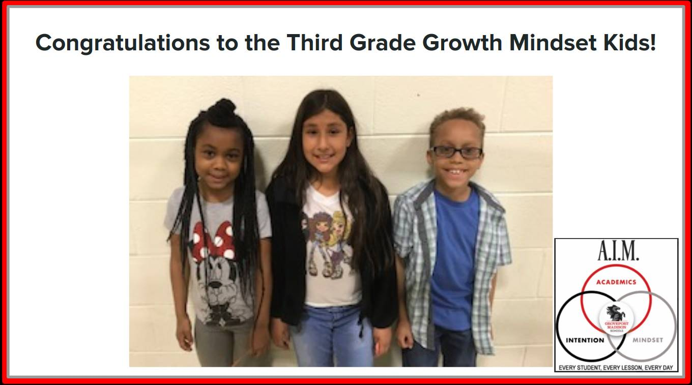 Third Grade Growth Mindset Kids