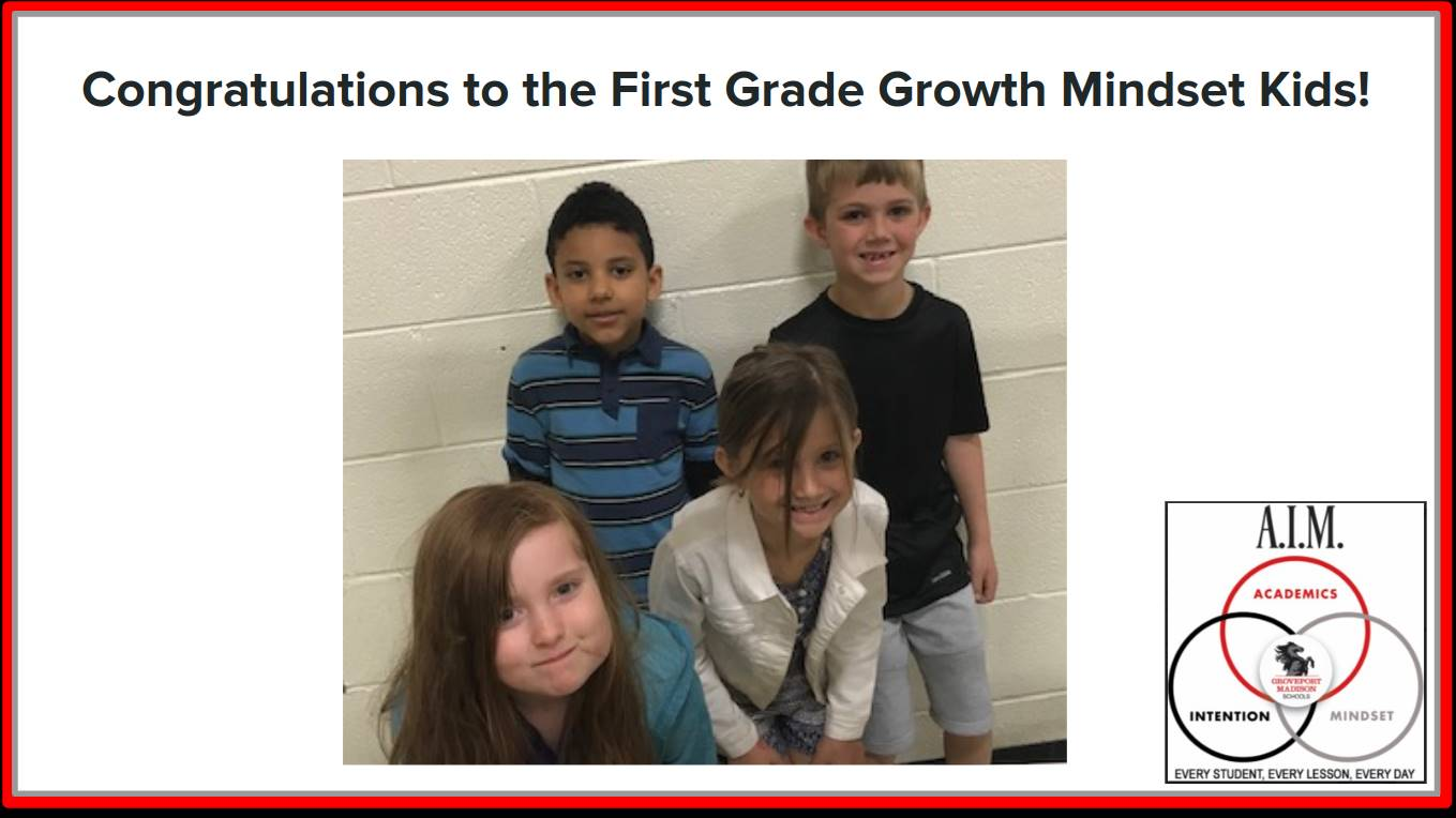 First Grade Growth Mindset Kids