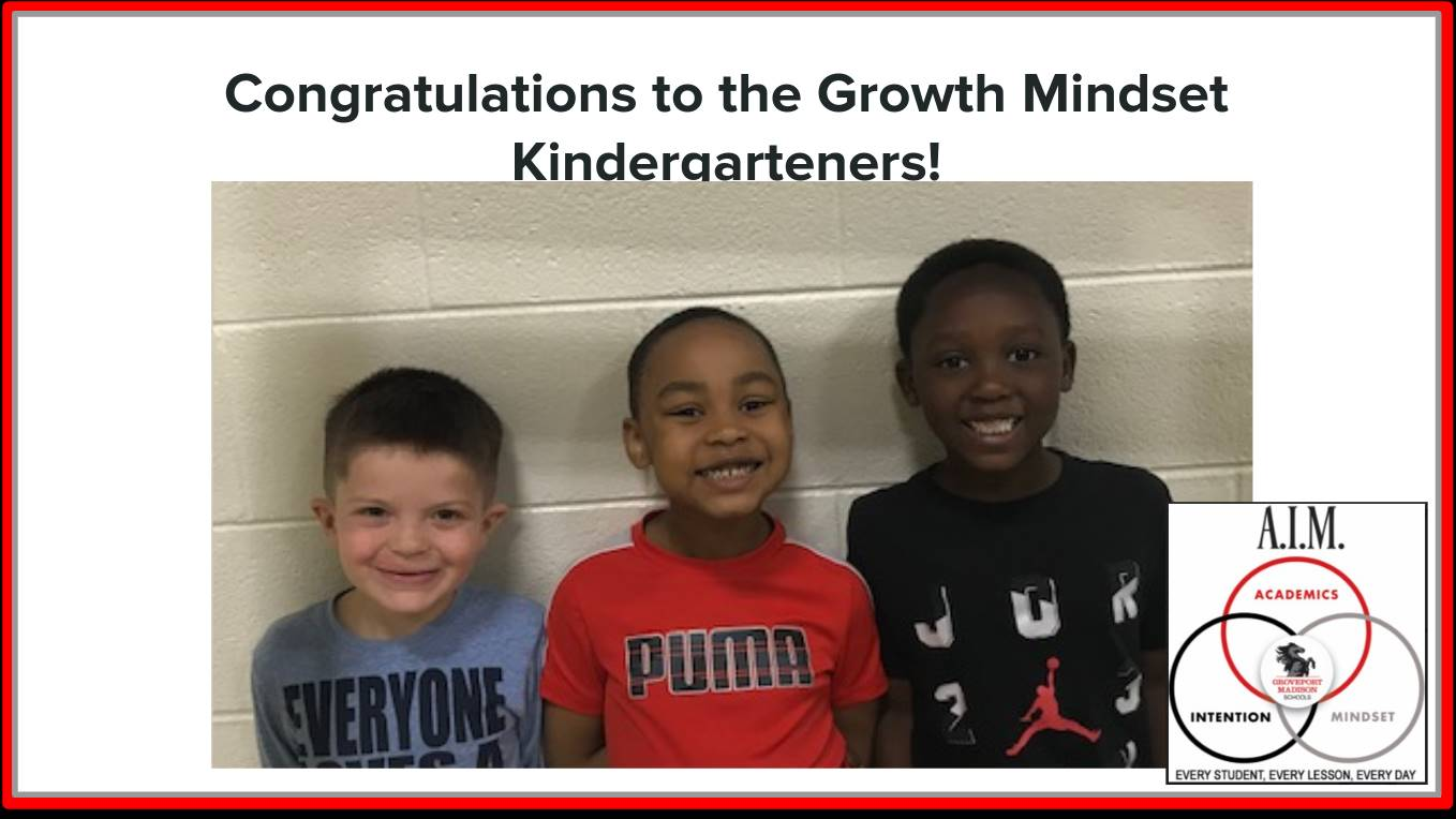 Growth Mindset Kindergartners