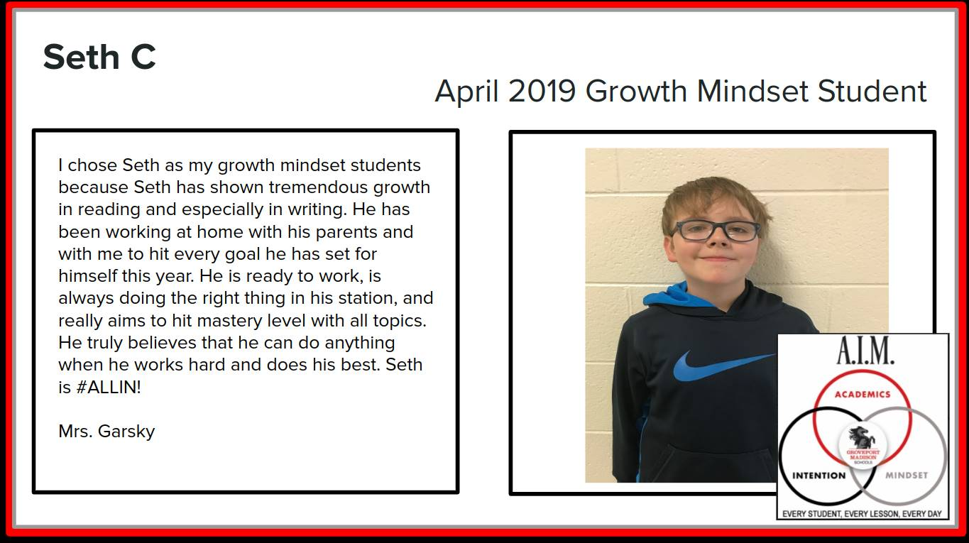 Growth Mindset Seth